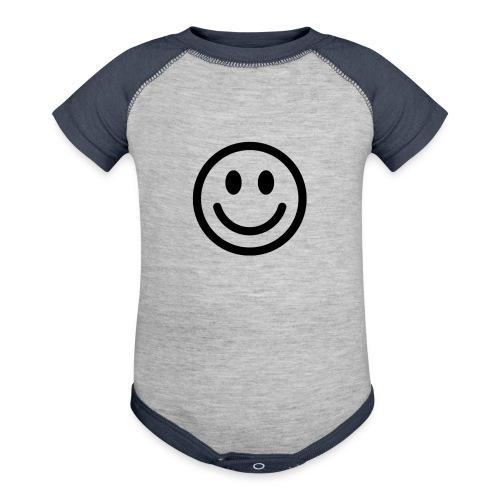 smile - Baseball Baby Bodysuit