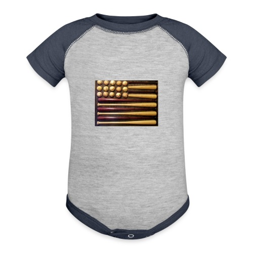 Baby baseball shirt - Contrast Baby Bodysuit