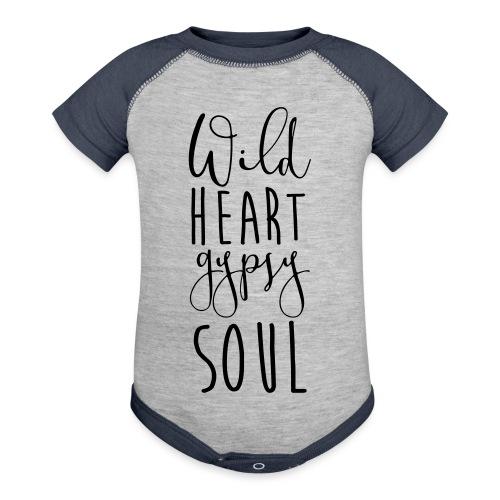 Cosmos 'Wild Heart Gypsy Sould' - Baseball Baby Bodysuit