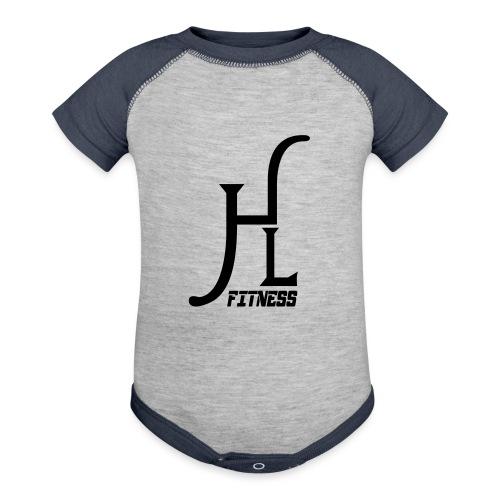 HLF Vector Blk - Baseball Baby Bodysuit