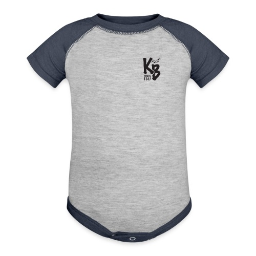 Kure Beach Day-Black Lettering-Front and Back - Baseball Baby Bodysuit
