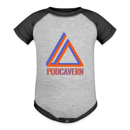 PodCavern Logo - Baseball Baby Bodysuit