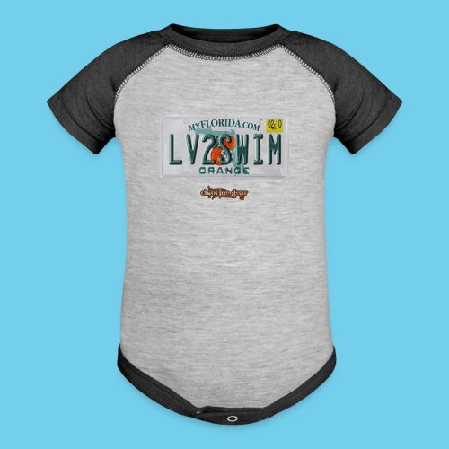 FL license plate - Baseball Baby Bodysuit