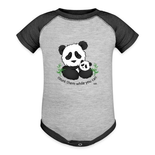 SnuggleCoats_panda - Baseball Baby Bodysuit