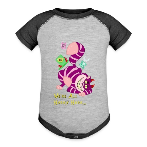 Cheshire Cat - Baseball Baby Bodysuit