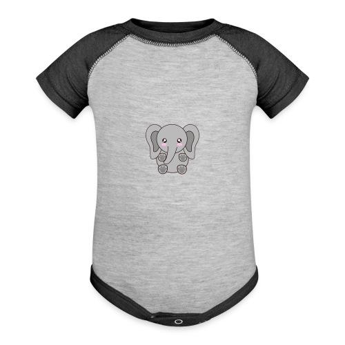 elefante - Contrast Baby Bodysuit