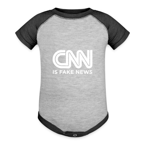 CNN Is Fake News - Contrast Baby Bodysuit
