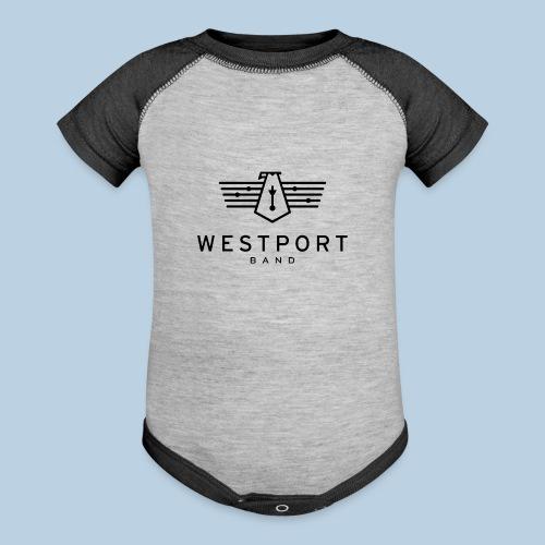 Westport Band Back on transparent - Baseball Baby Bodysuit