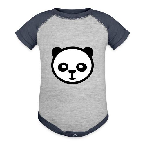 Panda bear, Big panda, Giant panda, Bamboo bear - Baseball Baby Bodysuit