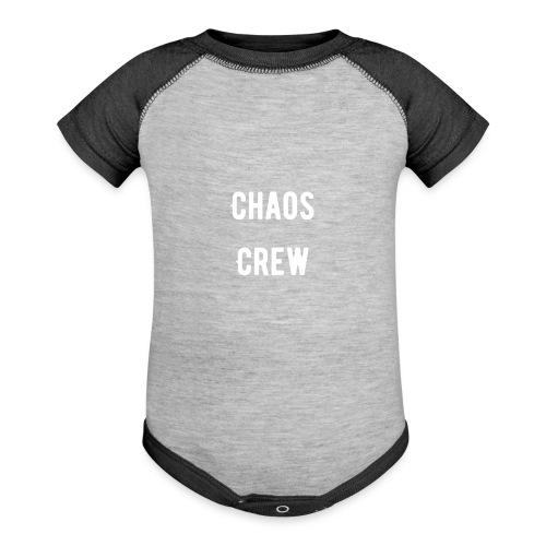 Chaos Crew White - Baseball Baby Bodysuit