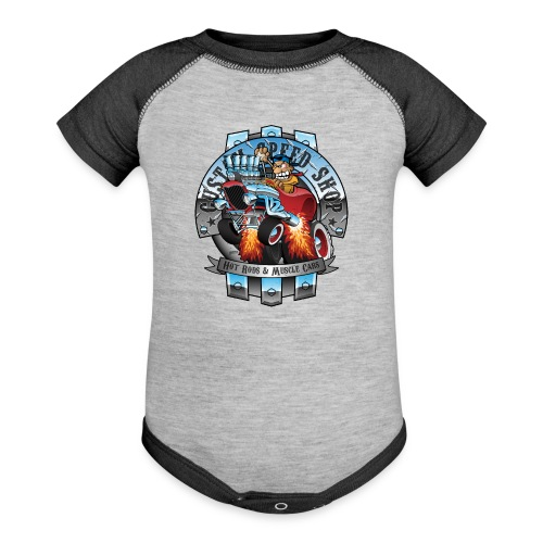 Custom Speed Shop Hot Rods and Muscle Cars Illustr - Contrast Baby Bodysuit