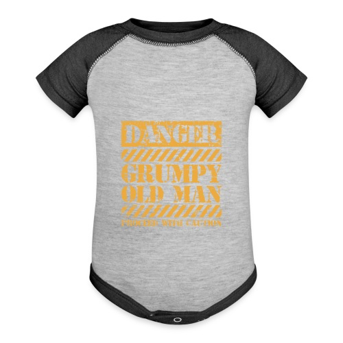 Danger Grumpy Old Man Sarcastic Saying - Baseball Baby Bodysuit