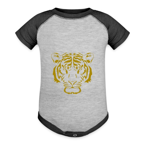 Tiger head - Baseball Baby Bodysuit