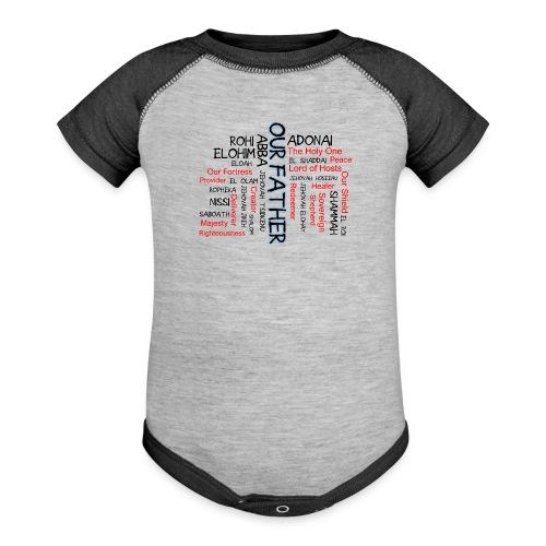 Names of God - Baseball Baby Bodysuit