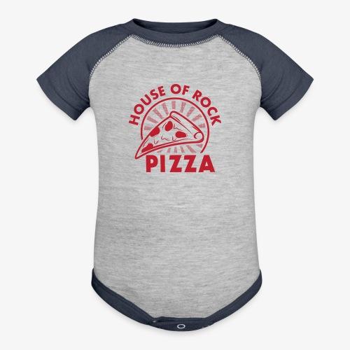 HOR Pizza Red - Baseball Baby Bodysuit