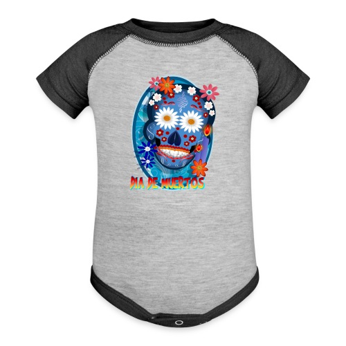 Day Of The Dead. October 31 and leave on November - Baseball Baby Bodysuit