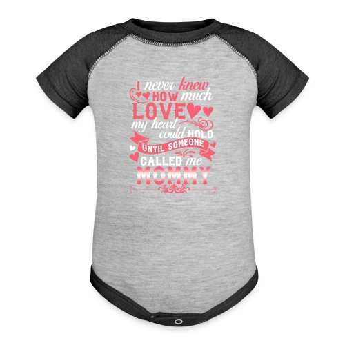 I Never Knew How Much Love My Heart Could Hold - Contrast Baby Bodysuit