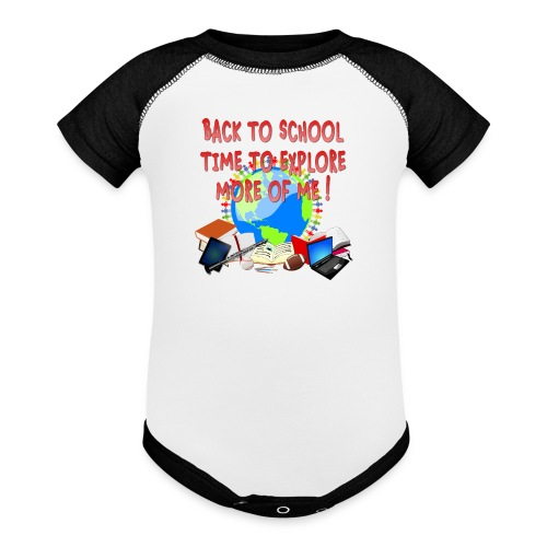 BACK TO SCHOOL, TIME TO EXPLORE MORE OF ME ! - Baseball Baby Bodysuit