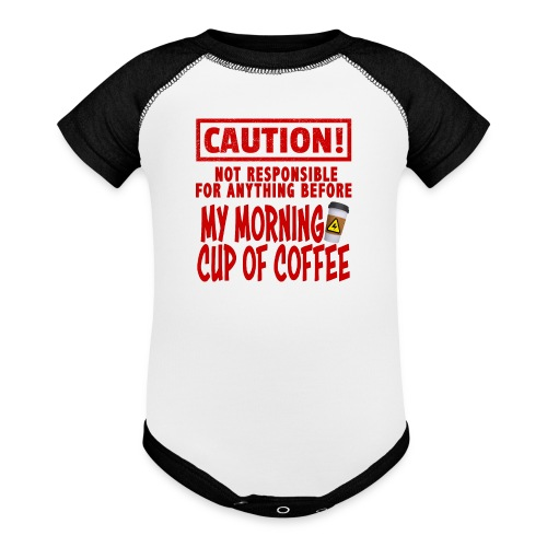 Not responsible for anything before my COFFEE - Baseball Baby Bodysuit