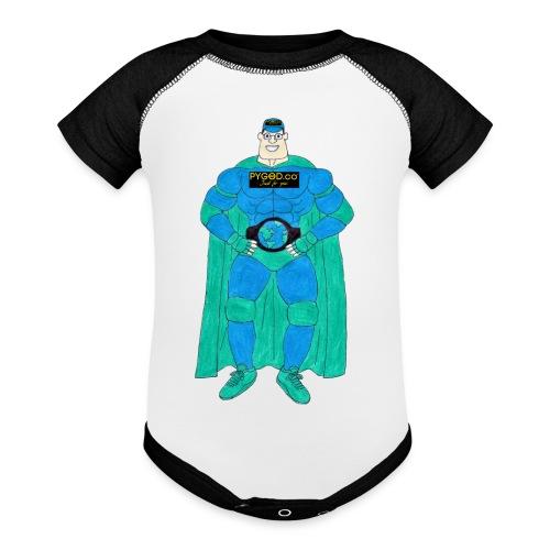 PYGOD Man - PYGOD.co Mascot - Baseball Baby Bodysuit