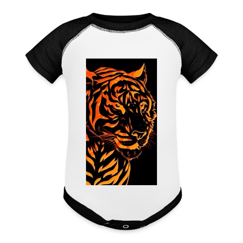 Fire tiger - Contrast Baby Bodysuit