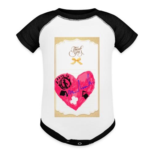 Heart of Economy 1 - Baseball Baby Bodysuit