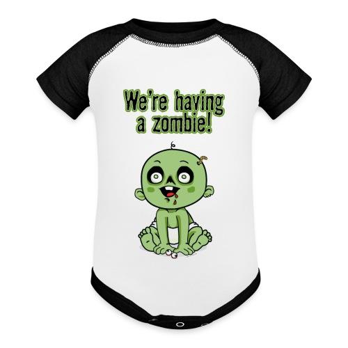 We're Having A Zombie! - Baseball Baby Bodysuit