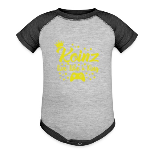 Live Like A King - Baseball Baby Bodysuit