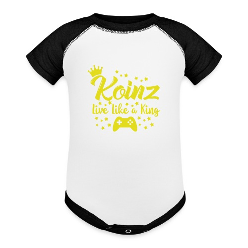 Live Like A King - Baseball Baby Bodysuit