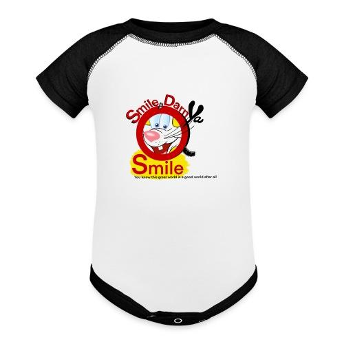 Smile Darn Ya Smile - Baseball Baby Bodysuit
