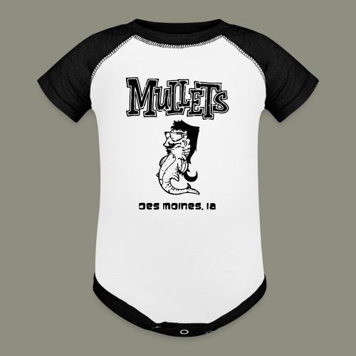 mulletmain black - Baseball Baby Bodysuit