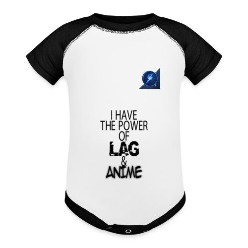 I Have The Power of Lag & Anime - Baseball Baby Bodysuit