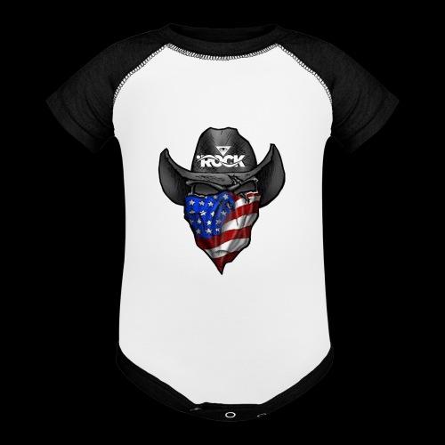 Eye rock cowboy Design - Contrast Baby Bodysuit