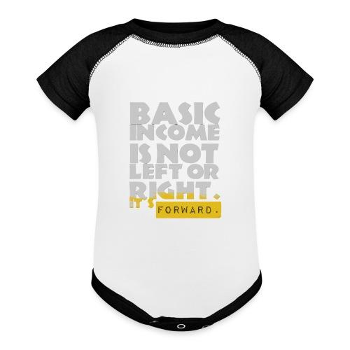 UBI is not Left or Right - Baseball Baby Bodysuit