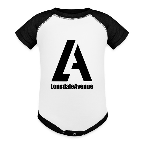 Lonsdale Avenue Logo Black Text - Baseball Baby Bodysuit