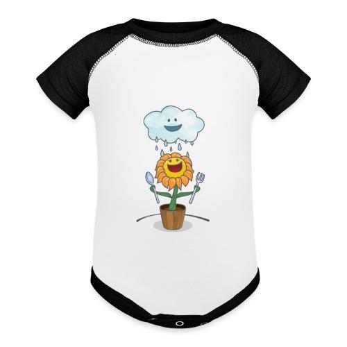 Cloud & Flower - Best friends forever - Baseball Baby Bodysuit