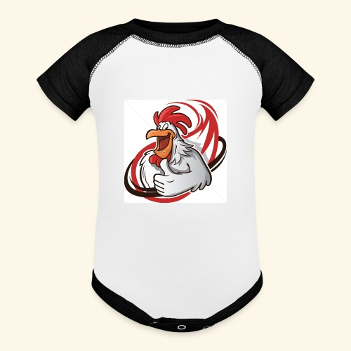 cartoon chicken with a thumbs up 1514989 - Baseball Baby Bodysuit
