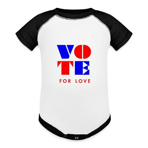 vote4love-sample - Contrast Baby Bodysuit