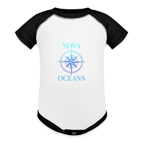logo_nova_oceans - Baseball Baby Bodysuit