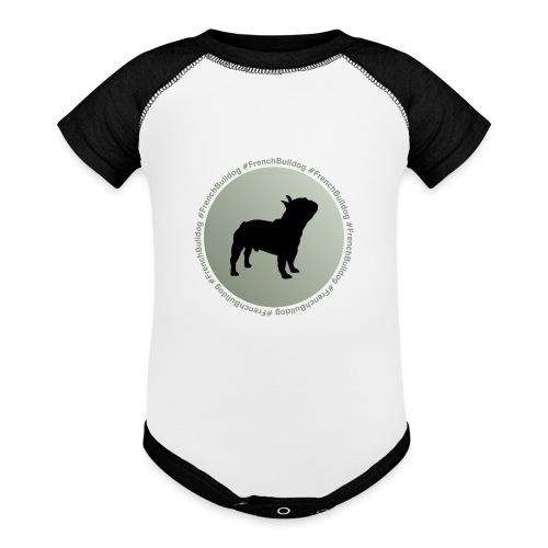 French Bulldog - Baseball Baby Bodysuit