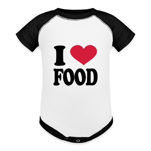 i love food - Baseball Baby Bodysuit
