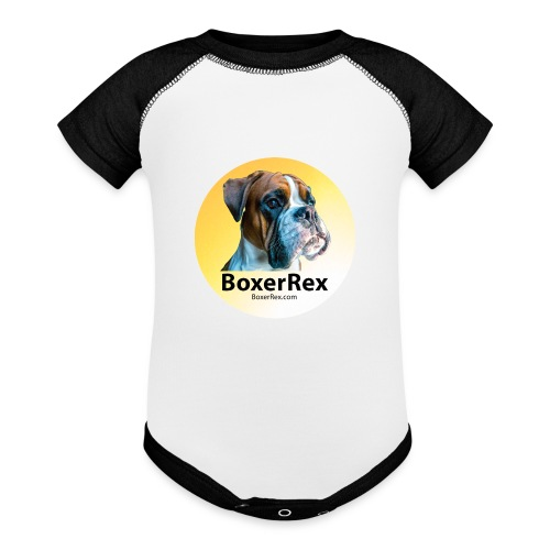 Boxer Rex logo - Baseball Baby Bodysuit