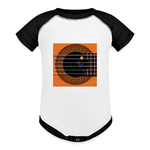 Cool Guitar Soundhole - Baseball Baby Bodysuit