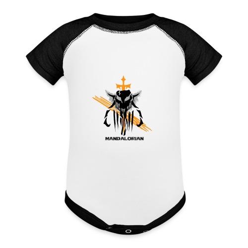 Mandalorian Logo - Contrast Baby Bodysuit
