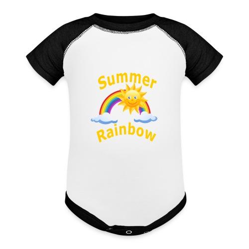 Summer Rainbow - Contrast Baby Bodysuit