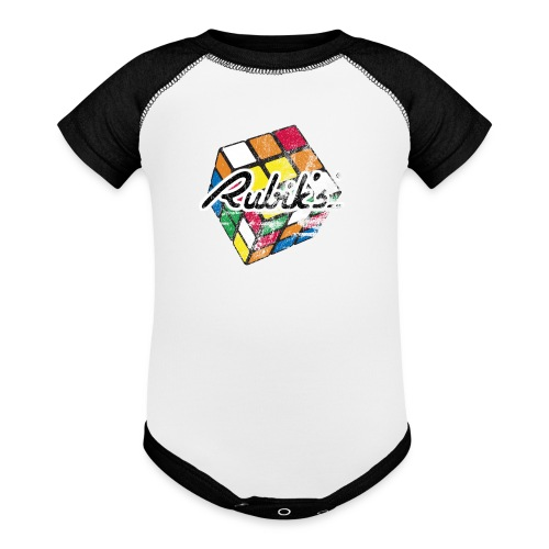 Rubik's Cube Distressed and Faded - Baseball Baby Bodysuit