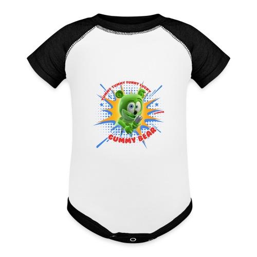 Funny Lucky Gummy Bear - Baseball Baby Bodysuit