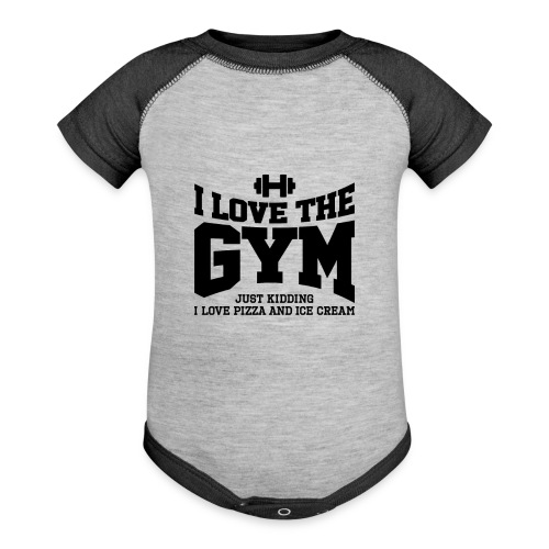 I love the gym - Baseball Baby Bodysuit