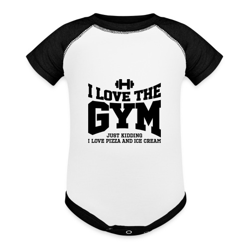 I love the gym - Contrast Baby Bodysuit