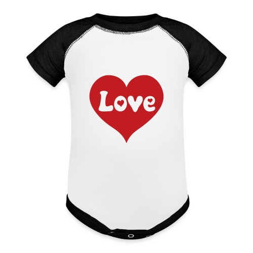 Love Heart - Baseball Baby Bodysuit